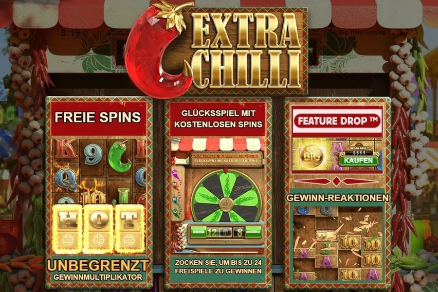Extra Chilli Slot bei Betsson