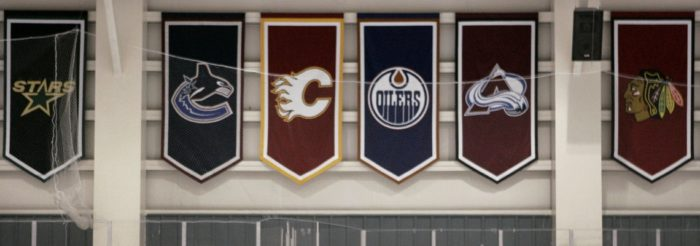 Die Flaggen der NHL Teams
